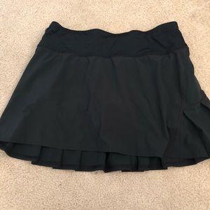 Lululemon Black tennis skirt with under shorts